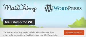 Mailchimp's WordPress plug-in