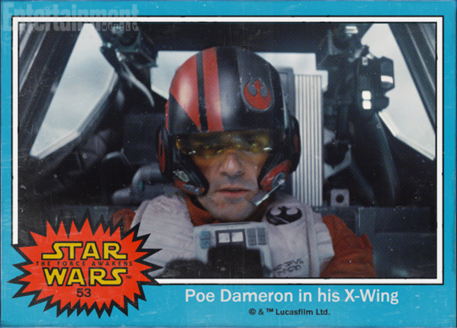 Star Wars character names have been revealed in retro trading cards.