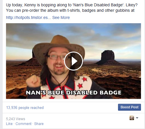 Put promotional messages in video on Facebook to get a bigger reach.