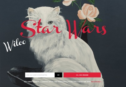 Wilco's special album landing page.