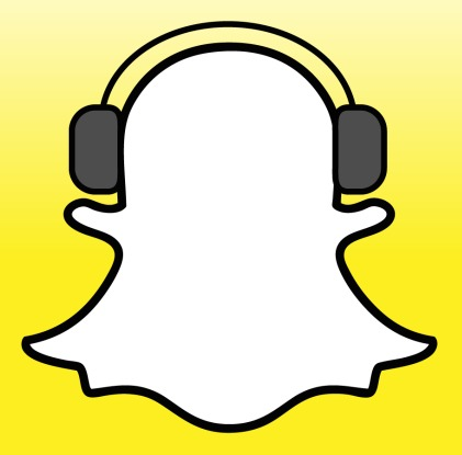 Snapchat-logo-with-earphones-1