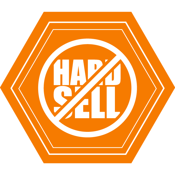 no hard sell