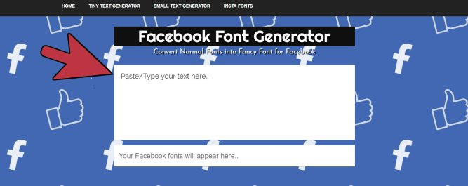 Facebook-Font-Generator